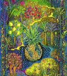 Peinture les vergers du paradis par Myrrha