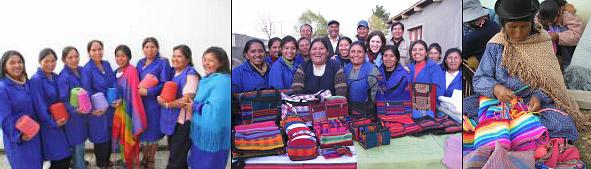Nos ateliers de tissage à Potosi, Cochabamba, Machacamarca et au bord du Lac Titicaca… Ce sont plus d'une centaine de femmes qui apprennent à tisser, coudre et surtout à vivre ensemble dans une nouvelle dignité.