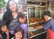 Mercedes, avocate et représentante légale de la Fondation ; Alberto, boulanger