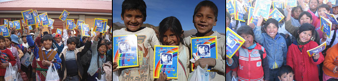 Chaque année, Voix Libres distribue du matériel scolaire à des dizaines de milliers d'enfants